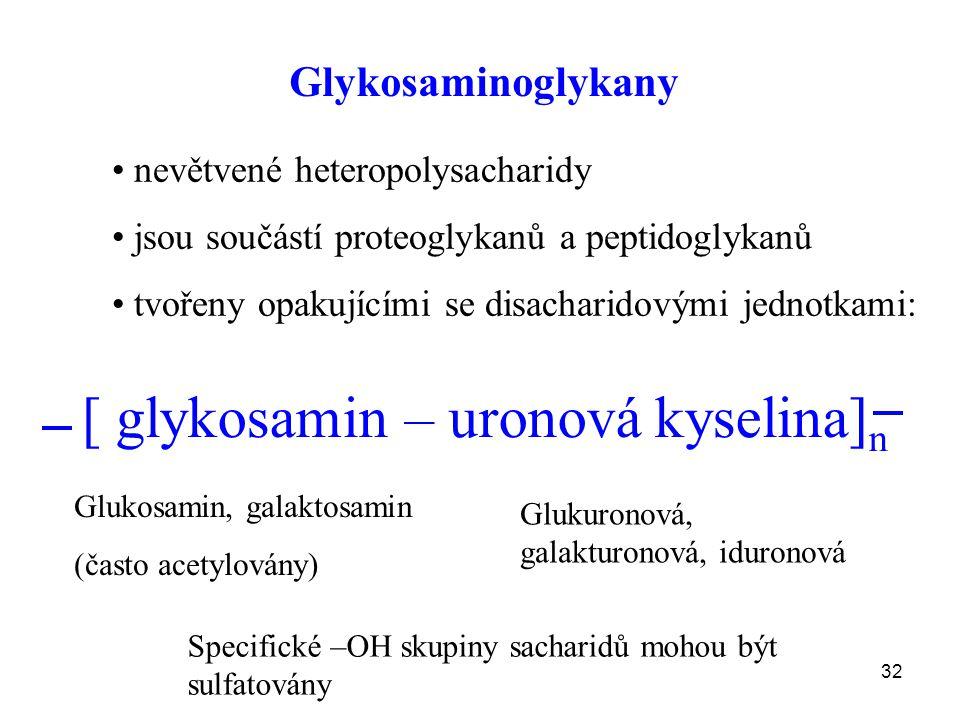[ glykosamin – uronová kyselina]n